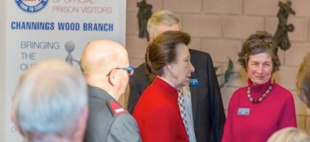 HRH The Princess Royal visit to HMP Channings Wood